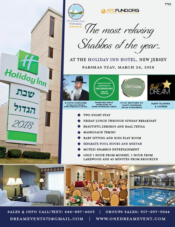 Shabbos Hagodel Getaway