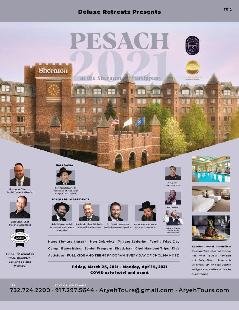 Pesach Getaway Deluxe